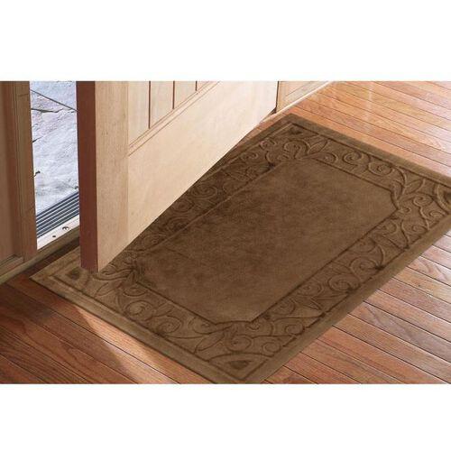 Low profile microfiber door mats at brookstone buy now for Indoor front door mat