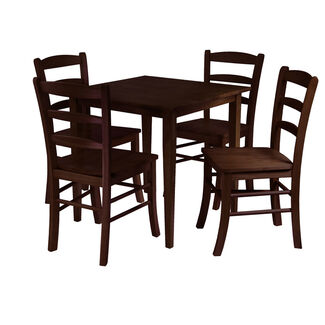 Winsome Groveland 5pc Square Dining Table w/ 4 chairs