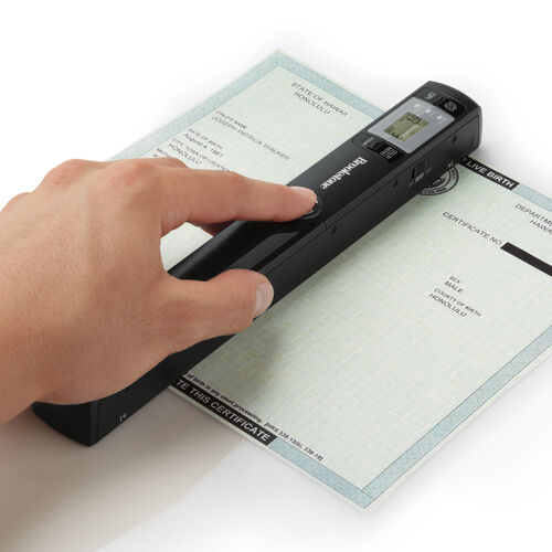 wi fi portable document and photo scanner at brookstone With portable document and photo scanner