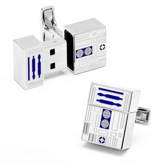 R2D2 4GB USB Flash Drive Cufflinks