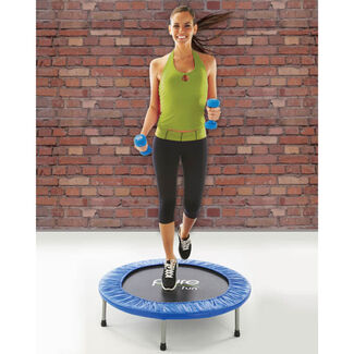 "Pure Fun 40"" Mini Rebounder Trampoline with 36 High-Tension Springs and Cushioned Trampoline Pad"