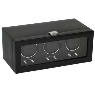 Triple Automatic Watch Winder with Cover by Wolf