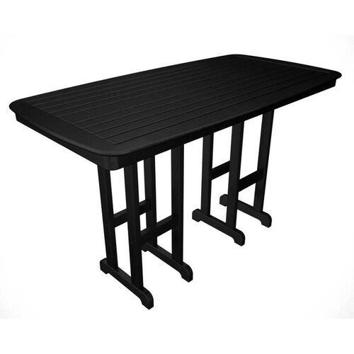 "71 1/2"" Nautical Bar-Height Outdoor POLYWOOD Table"