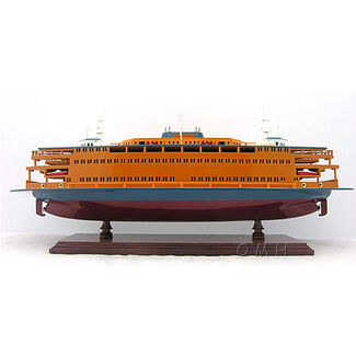 Staten Island Ferry Wooden Boat Model