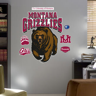 NCAA University of Montana Grizzlies Logo Fathead Wall Graphic