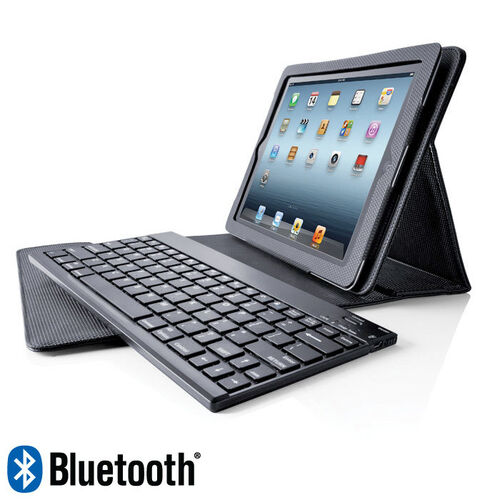 Bluetooth® Keyboard Pro with Leather Case for iPad® Tablets