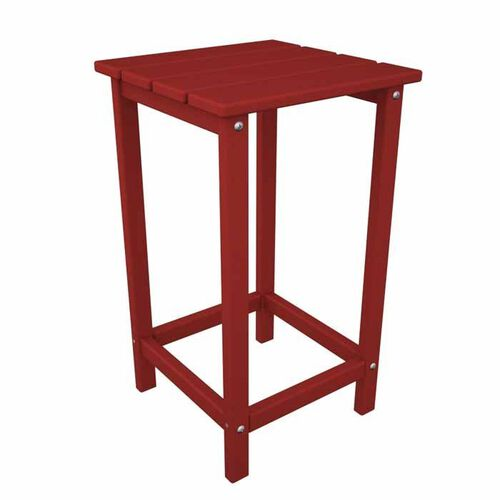 POLYWOOD Long Island 15-Inch Square Adirondack-Style Counter-Height Side Table