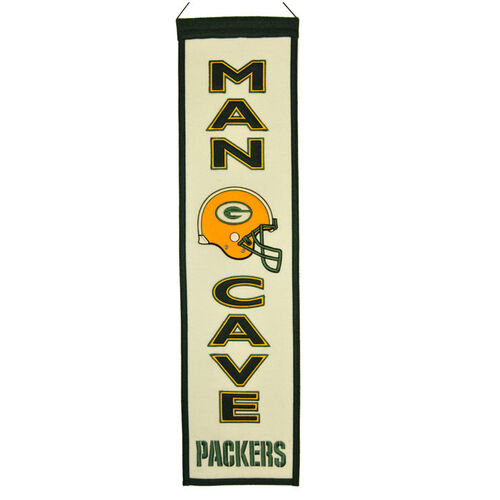 NFL Green Bay Packers Man Cave Vertical Banner