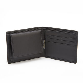 Personalized Royce Nappa Leather RFID Blocking Euro Commuter Wallet