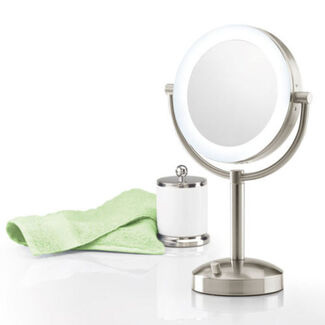 Wall Mount Makeup Mirror At Brookstone Buy Now