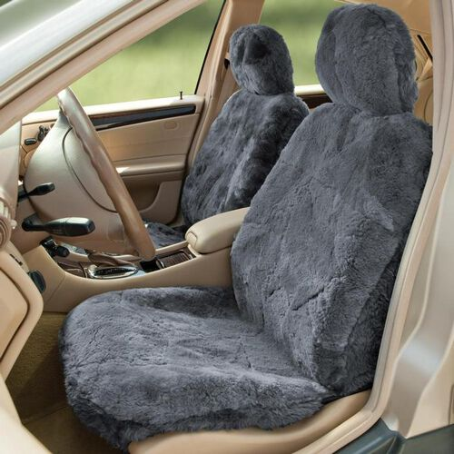 sheepskin seat cover at brookstone buy now. Black Bedroom Furniture Sets. Home Design Ideas