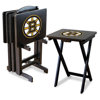 NHL TV Trays with Stand - Boston Bruins