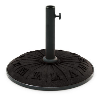 Roman Numerals Resin Patio Umbrella Base