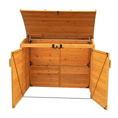 Horizontal Trash Can Storage Shed