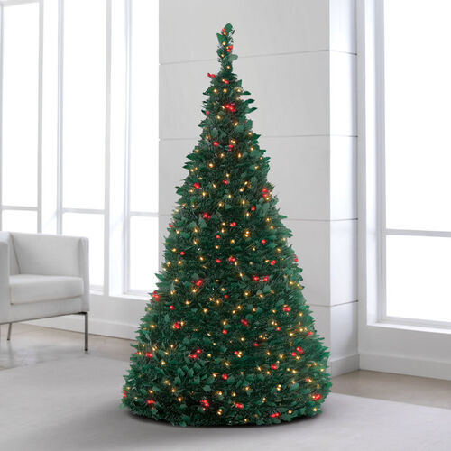 Where To Buy A Pre Lit Christmas Tree: Pre-Lit Pull-Up Trees At Brookstone—Buy Now