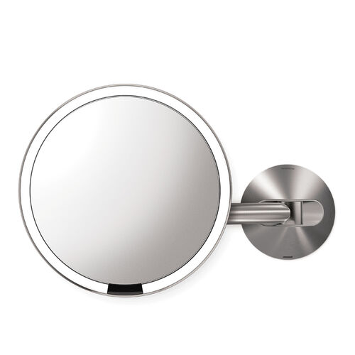 simple human wall mount 8 sensor mirror at brookstone buy. Black Bedroom Furniture Sets. Home Design Ideas