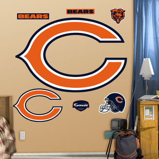 NFL Chicago Bears Classic Logo Fathead Wall Graphic