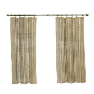 Curtains - Banded Easy Glide Bamboo Ring Top Panel
