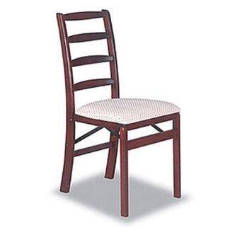 Ladder Back Folding Chairs, Set of Two