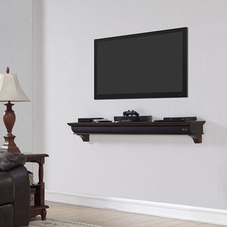 "60"" Wooden Shelf with Bluetooth Compatibility and 4 Speaker Drivers by Bell'O"