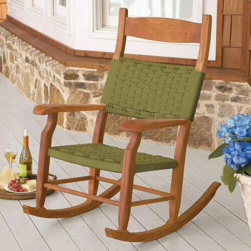 Woven Rope Outdoor Rocking Chairs