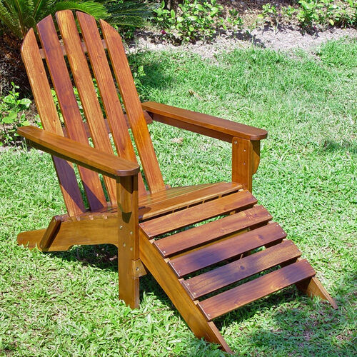 Outdoor Adirondack Chair with Footrest