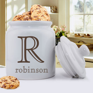 Personalized Family Initial Ceramic Cookie Jar