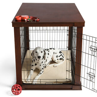 Indoor Wood Dog Crate and Pet Cage