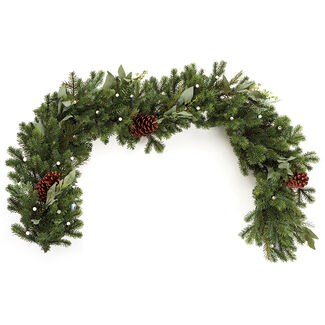 Cordless Pre-Lit Noble Fir Garland