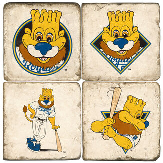 Kansas City Royals Mascot Drink Coasters