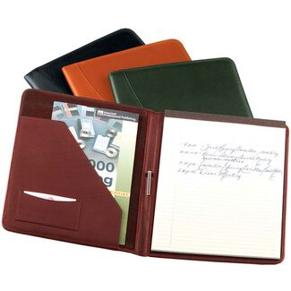Personalized Royce Nappa Leather Deluxe Writing Padfolio