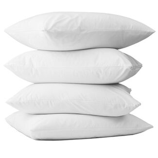 100% Cotton Terry Zippered Pillow Cover