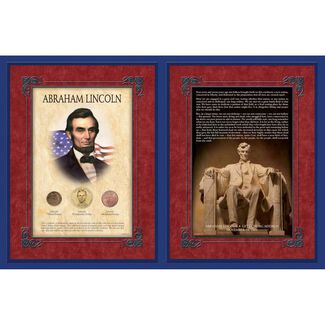 Abraham Lincoln's Gettysburg Address with Commemorative Coins
