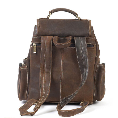 Cowhide Personalized Leather Uptown Backpack