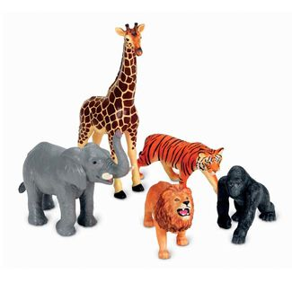 Jumbo Realistic Jungle Animal Toys