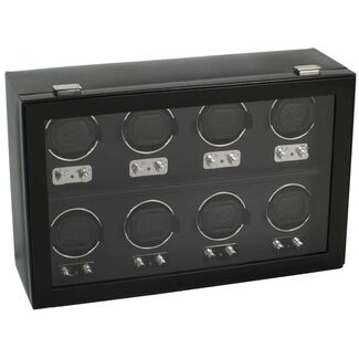 Eight Piece Automatic Watch Winder with Cover by Wolf