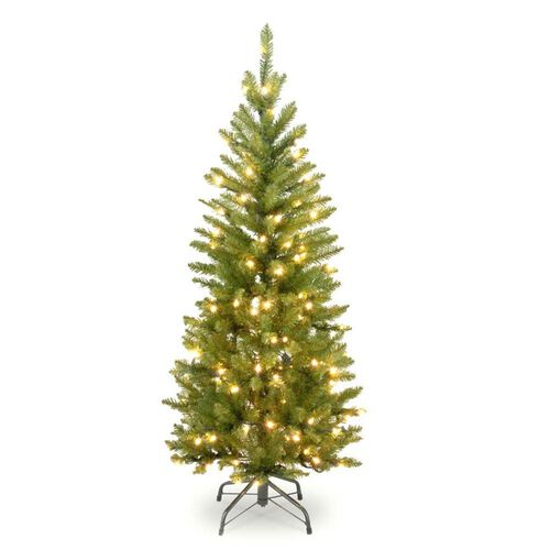 Pre-Lit Kingswood Fir Wrapped Pencil Christmas Tree
