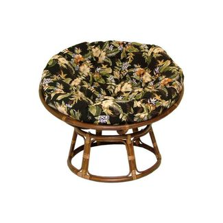 Rattan Papasan Chair with Polyester Cushion