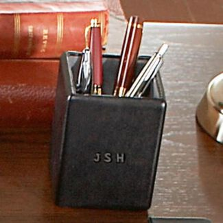 Personalized Royce Leather Pen & Pencil Holder