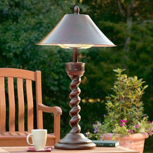 tabletop outdoor patio heaters at brookstone buy now. Black Bedroom Furniture Sets. Home Design Ideas