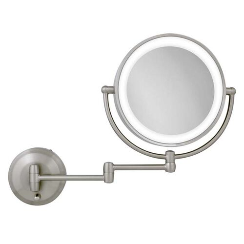 Dual Sided Dual Jointed Led Magnifying Round Wall Mount Mirror