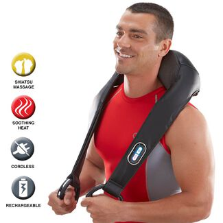 Cordless Shiatsu Neck & Back Massager with Heat