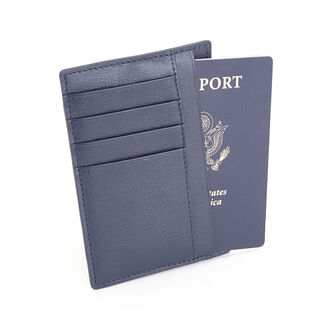 Royce RFID Blocking Slim Saffiano Leather Travel Passport Wallet