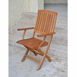 Royal Tahiti Outdoor Furniture: Folding Arm Chair - Set of 2
