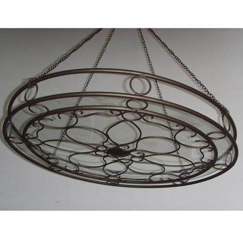 Steel Pipe Chandelier with Clear Enhance Glass