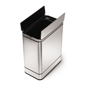 simplehuman 48L Butterfly Sensor Stainless Steel Trash Can