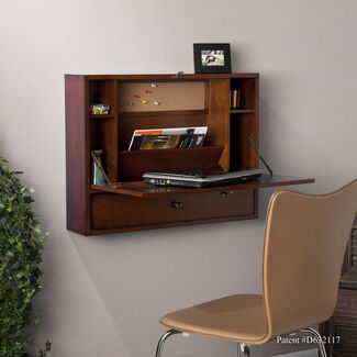 Wall-Mount Laptop Desk