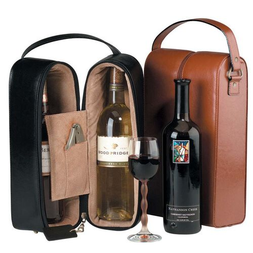 Royce Genuine Leather Double Wine Presentation Case