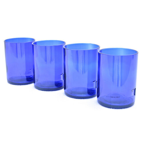 Skyy Vodka Bottle Rocks Glasses - Set of Four