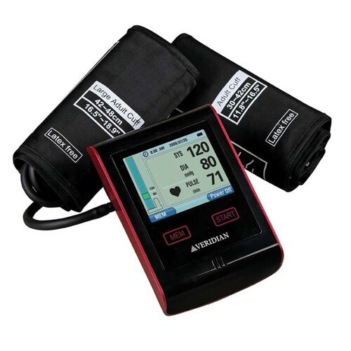 Veridian Health Care Advanced Display Deluxe Digital Blood Pressure Monitor